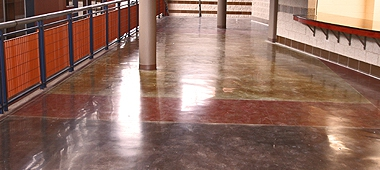Polished concrete school