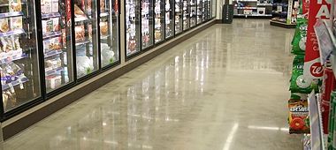 Polished concrete store
