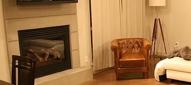 concrete fireplace surround texas