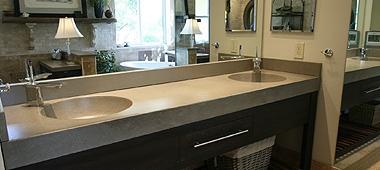 Natural honed concrete top