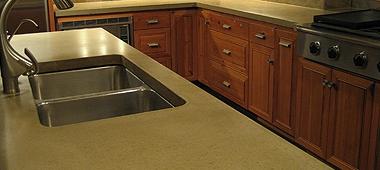 Premium concrete countertop