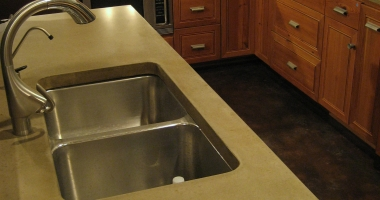 kitchen concrete stone counters