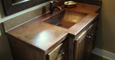 precast concrete vanity for restroom