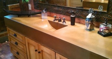 integral concrete sink