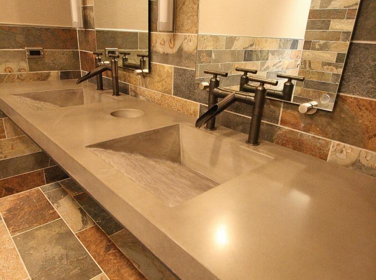 ... Concrete Bathroom Counter ...