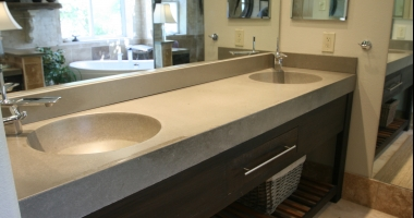 grey concrete countertops