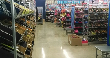 shoe store concrete flooring