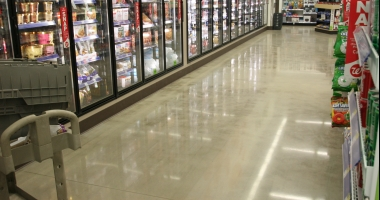 polished concrete drug store