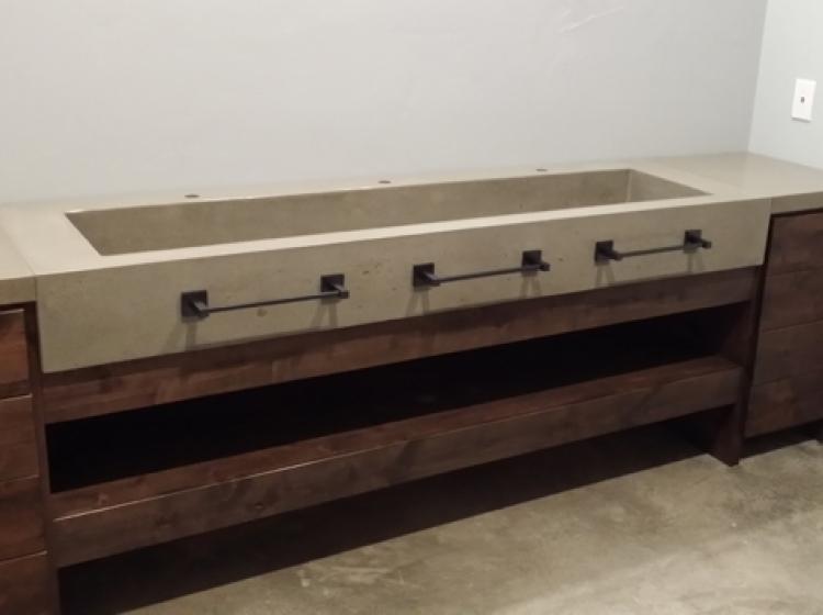 ... Concrete Large Trough Sink ...