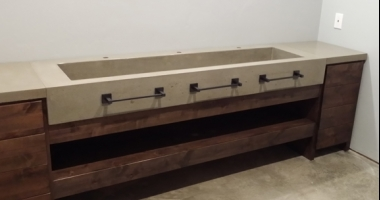 concrete large trough sink