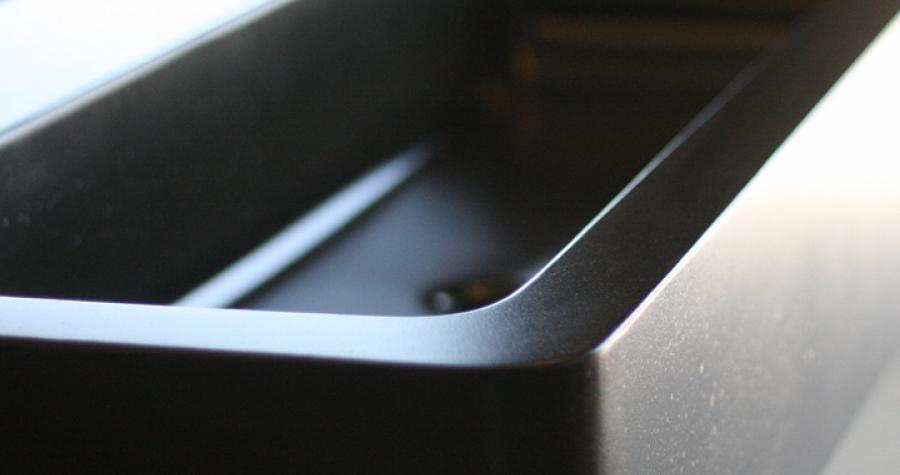 concrete box sink