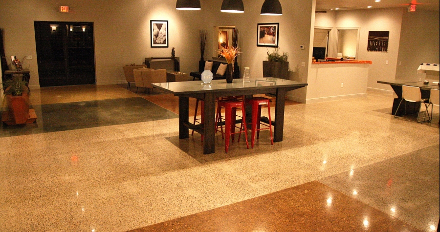 decorative concrete showroom