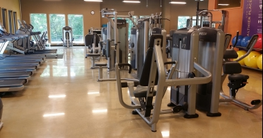 concrete flooring gym