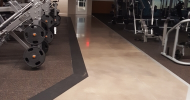 gym concrete floor