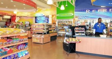 Corner store interior