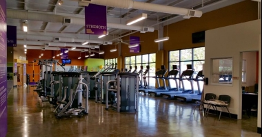 polished concrete anytime fitness
