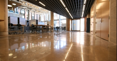 polished concret flooring university