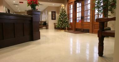 office building concrete flooring