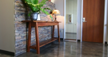 concrete floor entry