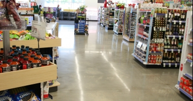 walgreens polished concrete flooring houston