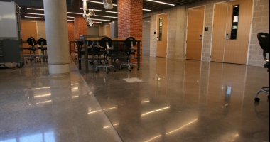 trinity university concrete flooring riverbed