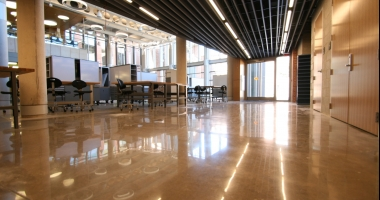 riverbed polished concrete