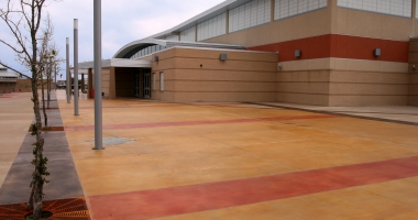 school exterior concrete