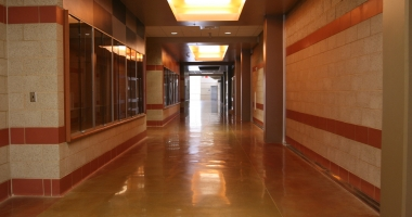 school hallway flooring