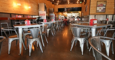 polished concrete restaurant
