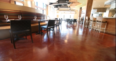 stained concrete flooring commercial