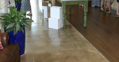 concrete flooring winery