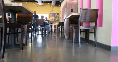 taco cabana concrete flooring