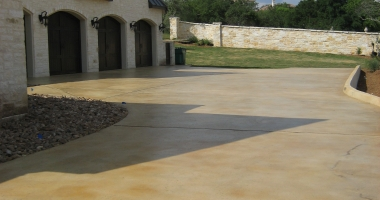 exterior stain and seal concrete