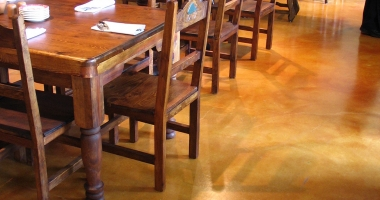 stained concrete restaurant
